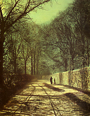 John Atkinson Grimshaw-Tree Shadows On The Park