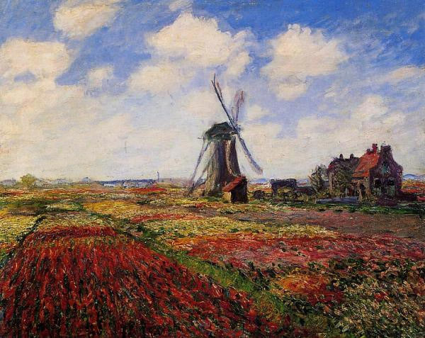 Claude Monet-Tulip Fields in Holland 1886