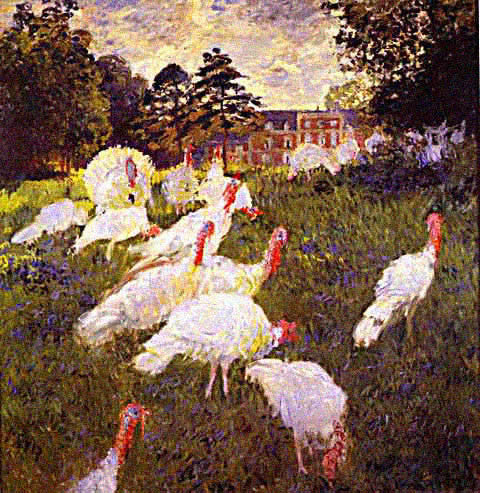 Claude Monet-Turkeys