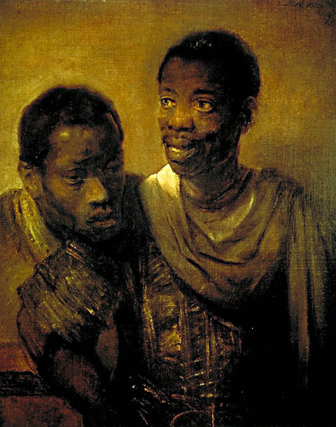 Rembrandt-Two Young Negroes 1656