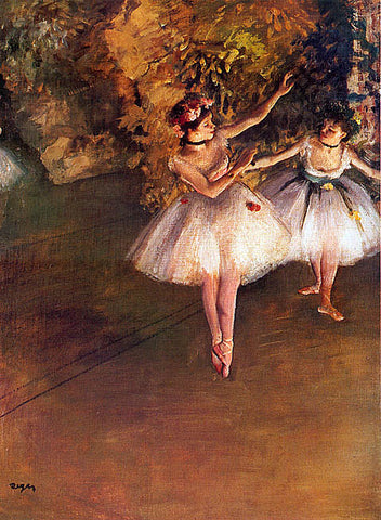 Edgar Degas-Two Dancers On Stage