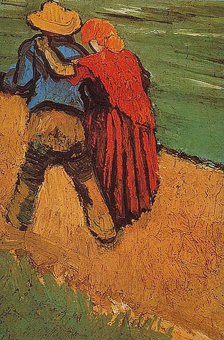 Vincent Van Gogh-Two Lovers 1888