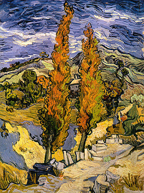 Vincent Van Gogh-Two Poplars