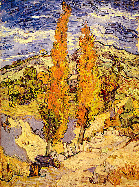 Vincent Van Gogh-Two Poplars On A Hill