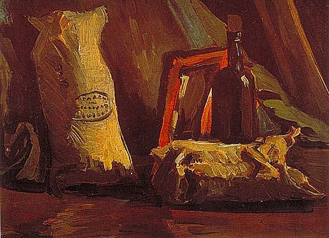 Vincent Van Gogh-Two Sacks 1884