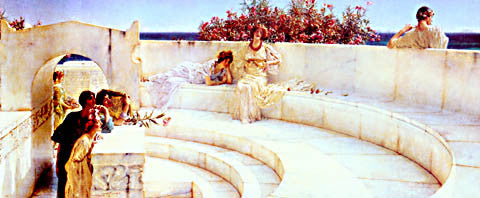 S. L. Alma-Tadema-Under The Roof Of Blue Ionian Weather