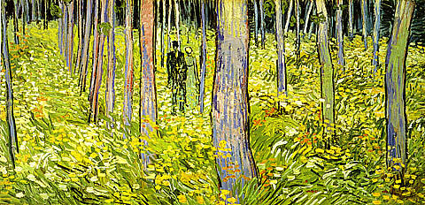 Vincent Van Gogh-Undergrowth With Two Figures