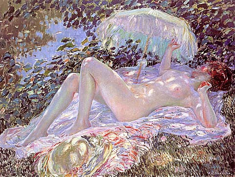 Frederick Frieseke-Venus In The Sunlight