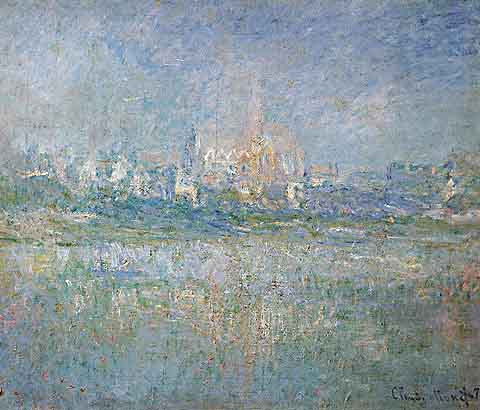 Claude Monet-Vetheuil in the Mist