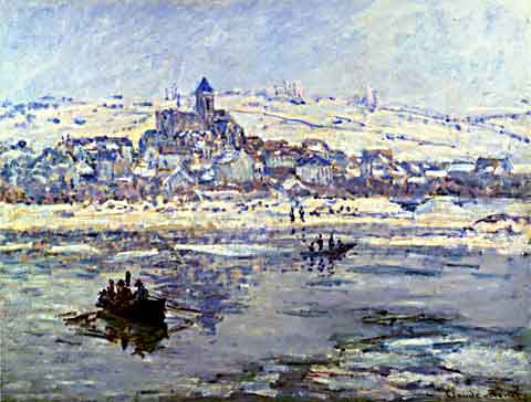 Claude Monet-Vetheuil in Winter