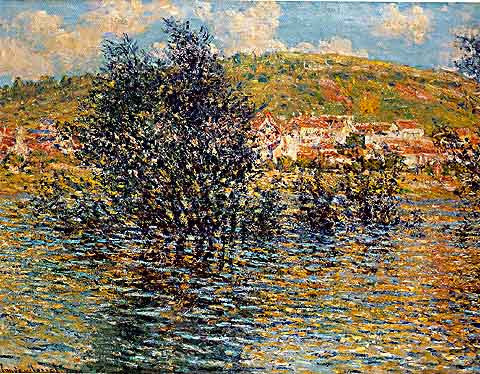 Claude Monet-Vetheuil Seen From Lavacourt