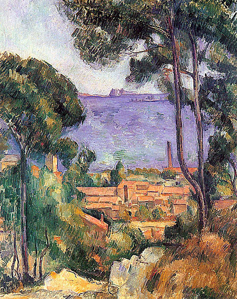Paul Cezanne-View Through Trees L Estaque