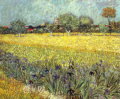 Vincent Van Gogh-Views Of Arles With Irises