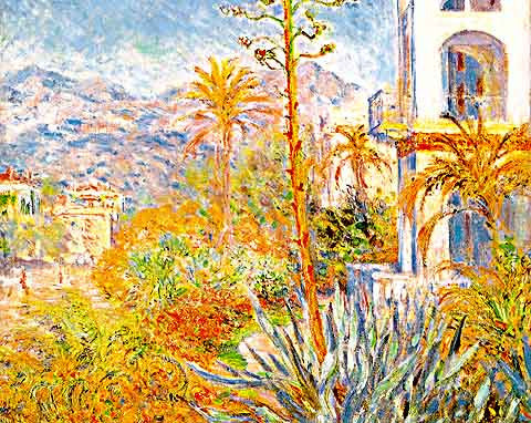 Claude Monet-Villas at Bordighera