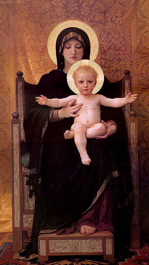 William Adolphe Bouguereau-Virgin And Child
