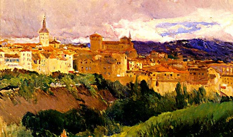 Joaquin Sorolla-View Of Segovia