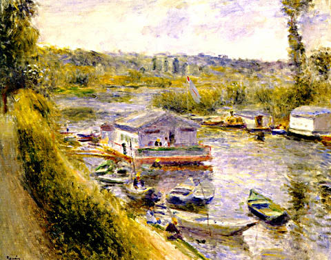 Pierre Auguste Renoir-Washhouse At Lower Meudon