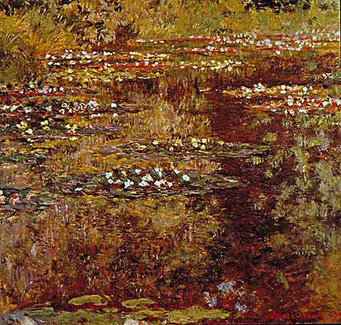 Claude Monet-Water Garden at Giverny 1904
