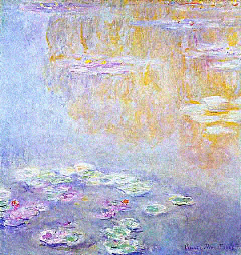 Claude Monet-Water Lilies 1908 Clear Sky