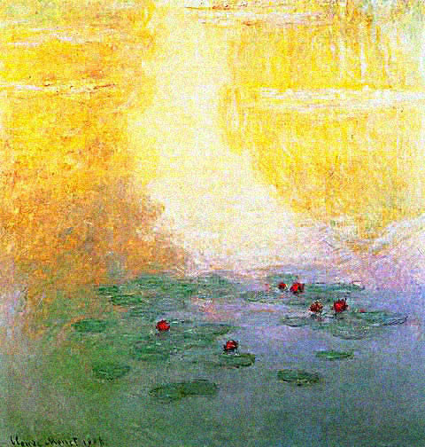 Claude Monet-Water Lilies Yellow Effect