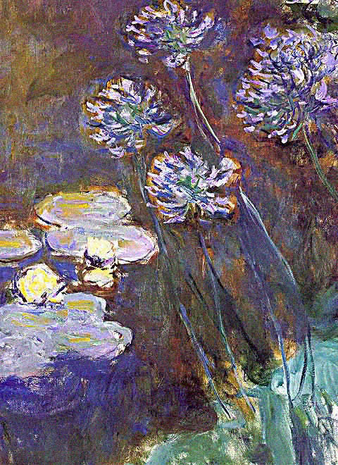 Claude Monet-Water Lily and Agapanthus