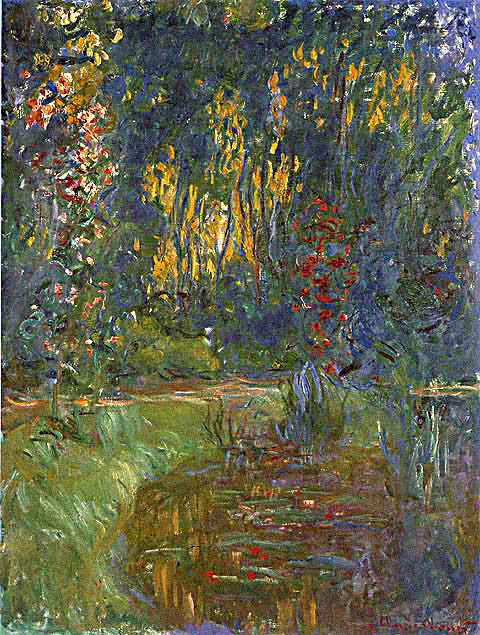 Claude Monet-Water Lily Pond at Giverny