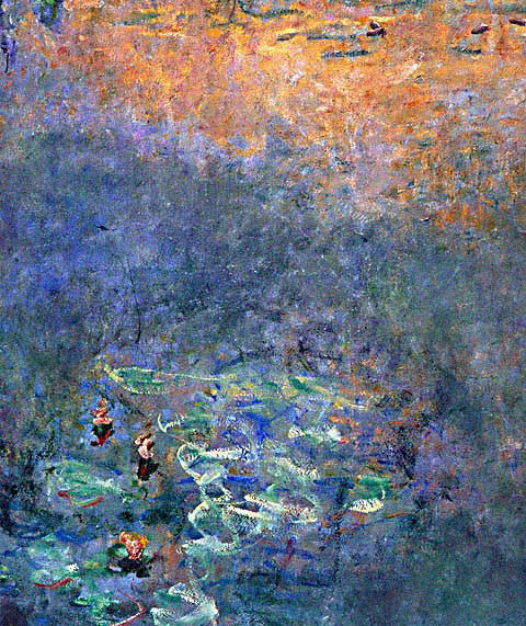 Claude Monet-Water Lily Pond With Irises Detail
