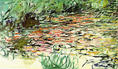 Claude Monet-Waterlilies Red and Green
