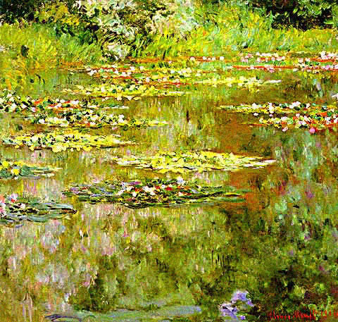 Claude Monet-Waterlilies 1918