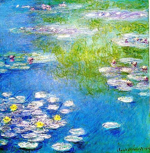 Claude Monet-Waterlilies Blue Sky