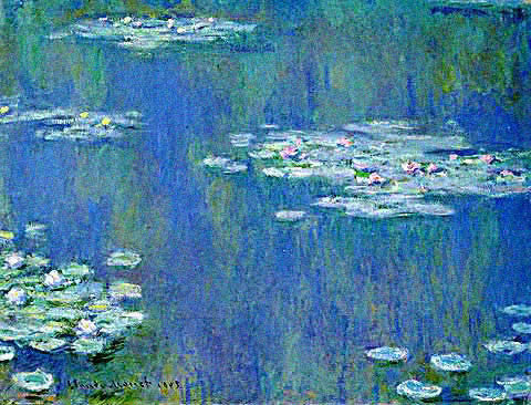 Claude Monet-Waterlilies Harmony In Blue