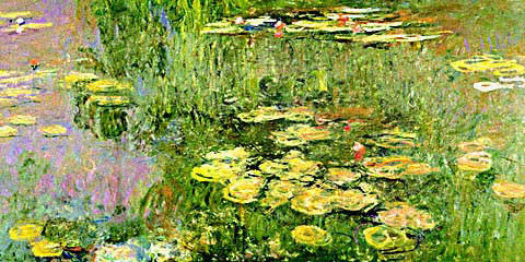 Claude Monet-Waterlilies 1918-Detail(2)