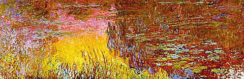 Claude Monet-Waterlilies Setting Sun