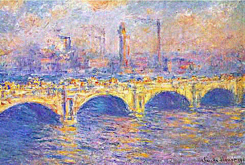 Claude Monet-Waterloo Bridge Sunlight Effect