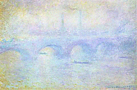 Claude Monet-Waterloo Bridge Fog Effect