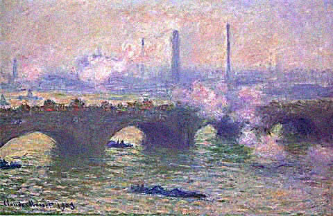 Claude Monet-Waterloo Bridge Grey Weather