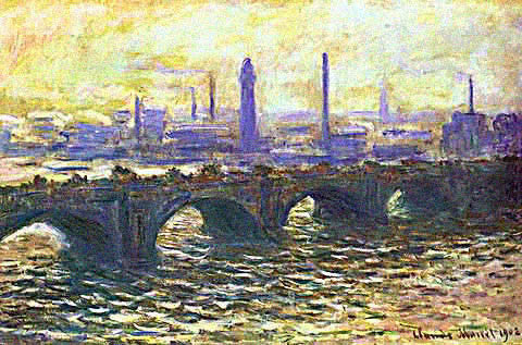 Claude Monet-Waterloo Bridge Misty Morning