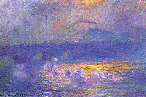 Claude Monet-Waterloo Bridge Sun Effect With Smoke