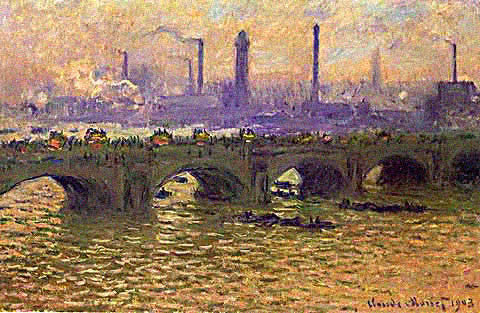Claude Monet-Waterloo Bridge Temps Gris