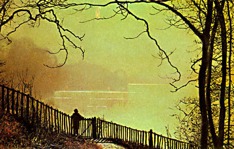 John Atkinson Grimshaw-Waterloo Lake Leeds 1872