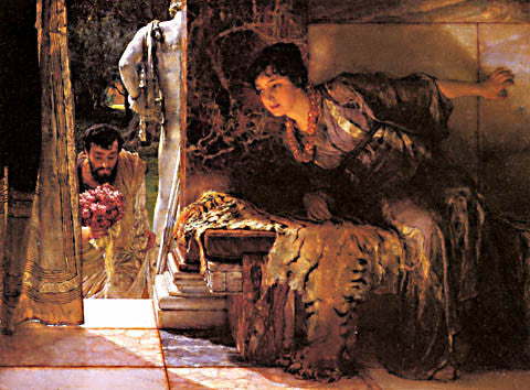 S. L. Alma-Tadema-Welcome Footsteps 1883