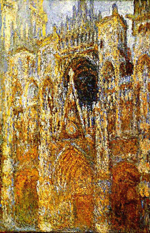 Claude Monet-Western Portal of Rouen Cathedral Harmony in Blue