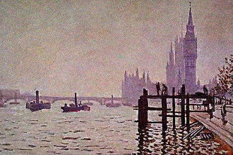 Claude Monet-Westminster Bridge 1871