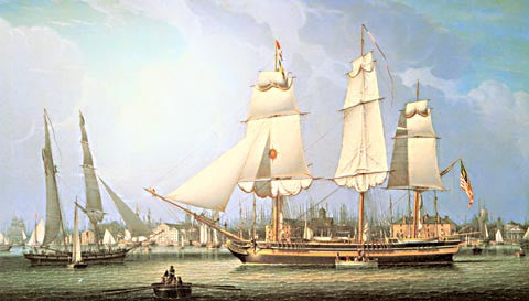 Robert Salmon-Wharves Of Boston 1829