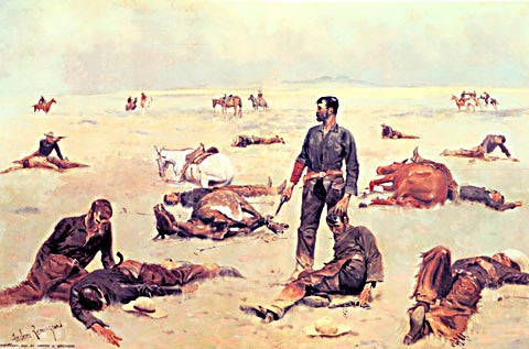 Frederic Remington-What An Unbranded Cow Has Cost 1895
