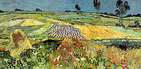Vincent Van Gogh-Wheat Field At Auvers
