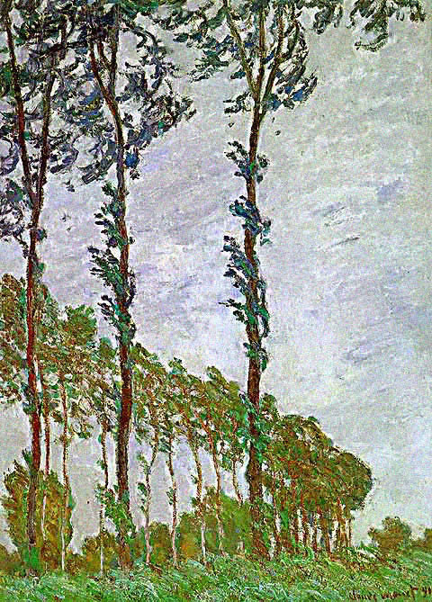 Claude Monet-Poplars Wind Effect