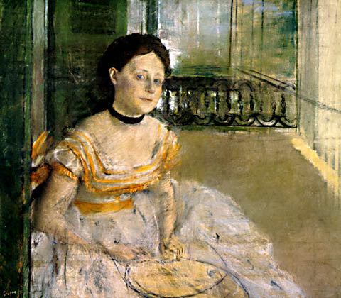 Edgar Degas-Woman Seated In A Balcony