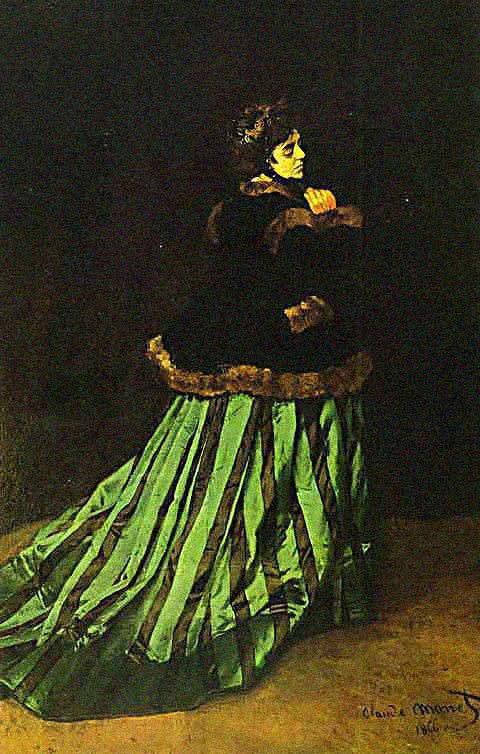 Claude Monet-Woman in the Green Dress
