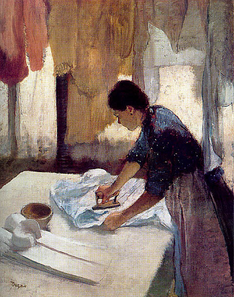 Edgar Degas-Woman Ironing 1876